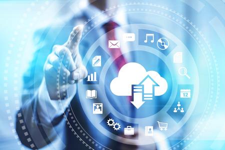 Cloud computing concept illustratie