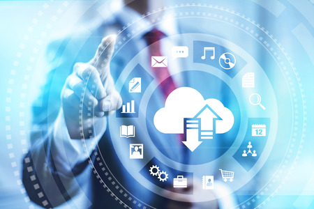 Cloud computing concept illustration Stock Photo