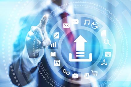 infraestructura: De subida a Internet concepto de conexión ilustración