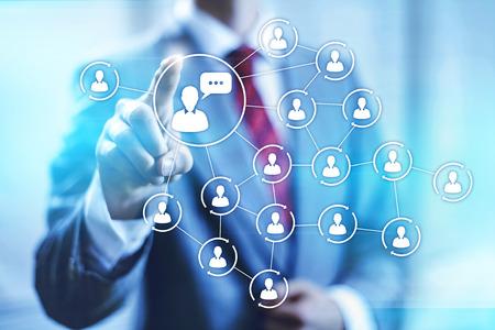 interaccion social: Medios de comunicación social el concepto de marketing conectividad ilustración Foto de archivo
