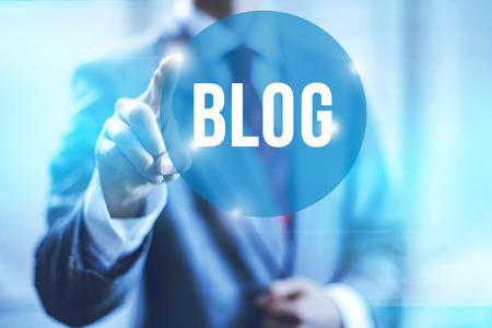 Blog et les blogs concept illustration Banque d'images