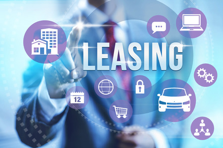 leasing: Leasing concept illustration with multiple icons