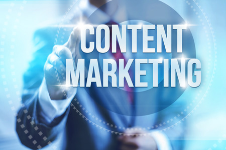 Content marketing retaining customers concept illustration Stock Photo