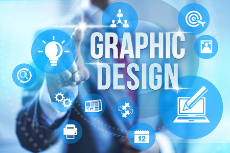 Grafisch ontwerp service concept illustratie Stockfoto
