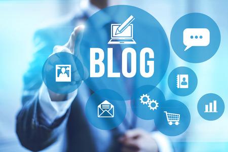 Blog en bloggen concept illustratie