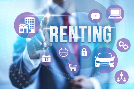 apartment shortage: Renting concept illustration with multiple icons