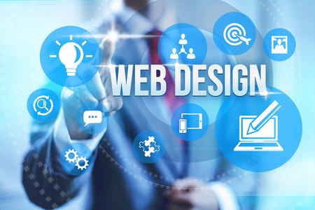 Web design service concept illustratie Stockfoto