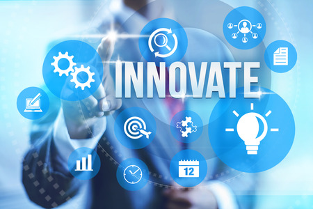 Creative innovation effectiveness concept illustration