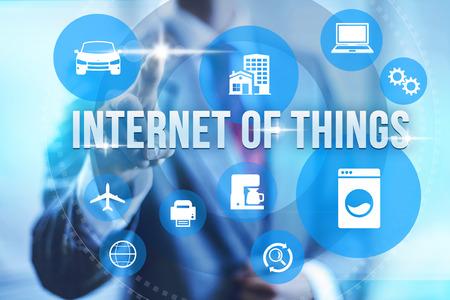 일 IOT의 인터넷의 인터넷 UI 개념의 미래 스톡 콘텐츠
