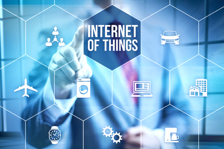 wireless internet: Future of internet UI concept of internet of things IOT Stock Photo
