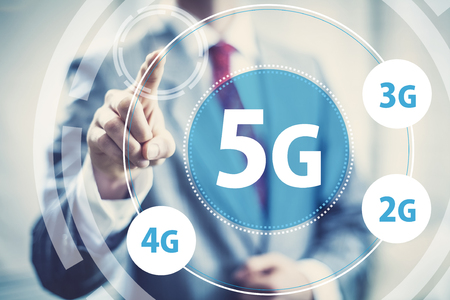 High speed wireless mobile data 5g concept image