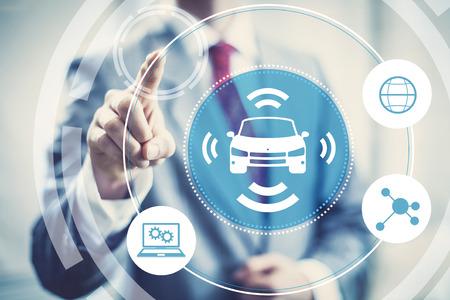 autonomous: Autonomous self-driving car future transportation concept image