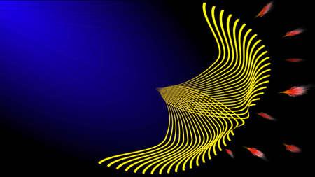 rebirth: Abstract art of the phoenix bird.