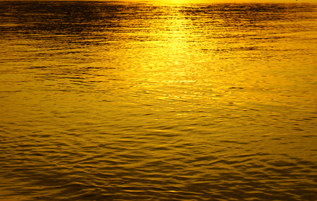 reflection in water: Sunset reflection in water gold lite unreal