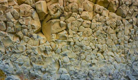 inclusions: texture of sandstoneThe surface of the large fragment of sandstone boulders