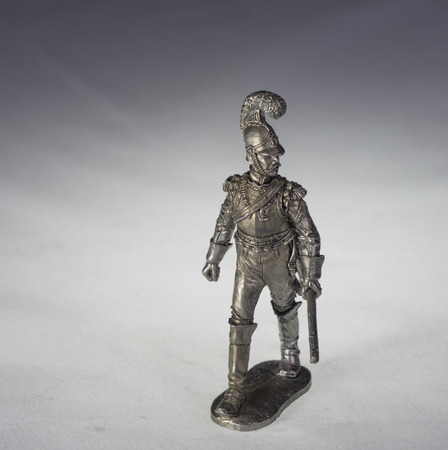 infantryman: tin soldiers Stock Photo