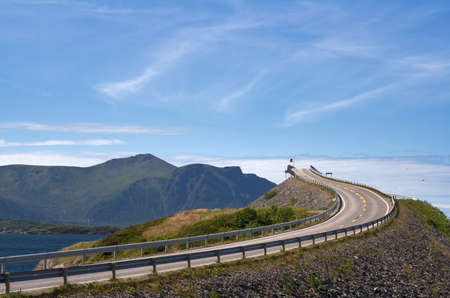atlantic: Road to heaven - view at Atlantic Road (Norway) Stock Photo