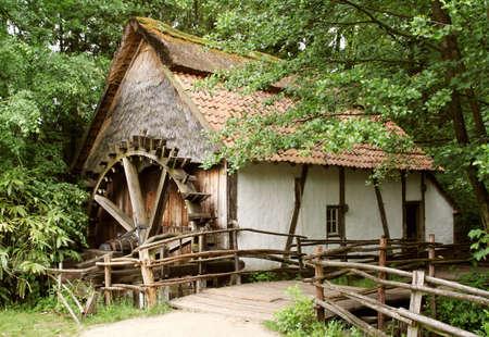 watermill: old-fashion Flemish watermill in Bokrijk (Limburg, Belgium)