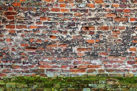 weatherworn: Grunge red brick texture (very old wall)