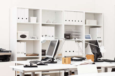 working place: view on an office working place with various business accessories Stock Photo