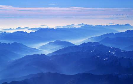 View on Alps from the plane near Innsbruck (Austria).   Reklamní fotografie