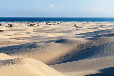 canaria: Maspalomas Dunes, Gran Canaria, Canary Islands, Spain - photographed at sunset