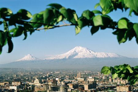 Armenia.City Yerevan.Mountain Ararat. Standard-Bild