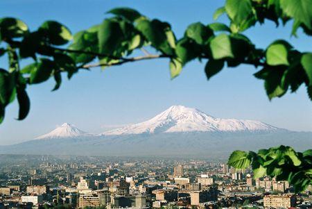 Armenia.City Yerevan.Mountain Ararat. Stock Photo