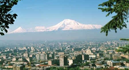 City Yerevan.Mountain Ararat.Armenia.