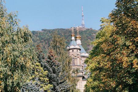 pyatigorsk: Chiesa russa, tempio in nome proprio Lazarus.City Pyatigorsk, il Caucaso, la Russia. Archivio Fotografico