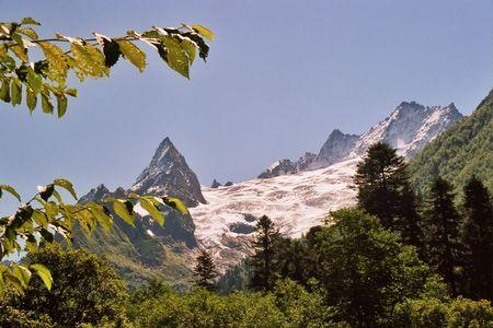 dombai: Dombai in Karachai,Caucasus,Russia. Stock Photo
