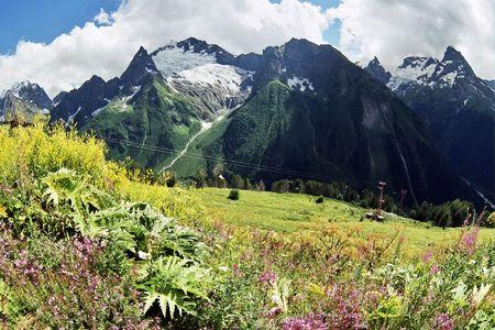 dombai: Summer in Dombai in Karachai,Caucasus,Russia.
