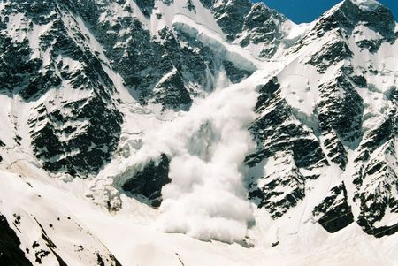 Avalanche.Mountain Donguz-Orun,Prielbruse,Balkaria,Central Caucasus,Russia. photo