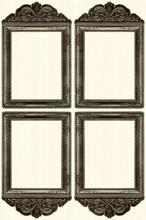 Frame on white background. Stock Photo
