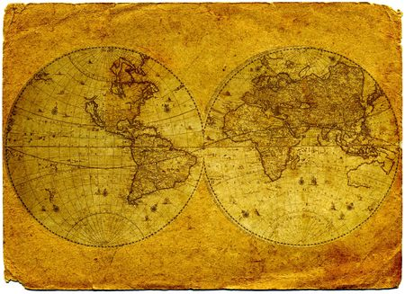 mapa de africa: Papel antiguo mapa del mundo.