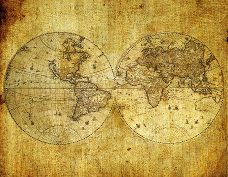 Old paper world map.  Stock Photo - 5692220