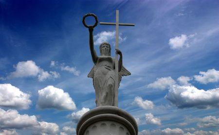 Victory with laurel crowns,sanatorium in Essentuki,Caucasus,Russia.