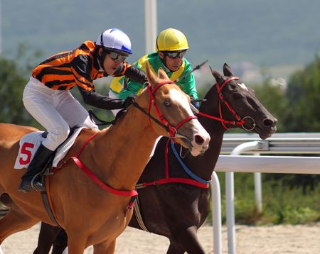 PYATIGORSK, RUSSIA - AUGUST 8: The race for the prize of the