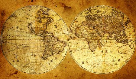 topografia: Mapamundi de papel viejo, Armenia.  Foto de archivo