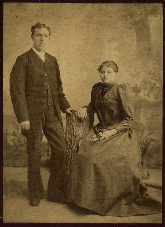 Family of the cossacks.The shot was taken around 1924 year. Stock Photo