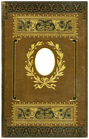 Old bookes cover isolated on White,1890 year.