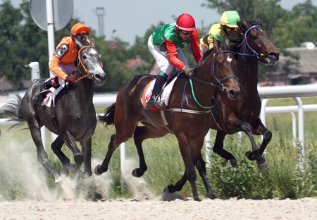 PYATIGORSK, RUSSIA  - JUNE 13: The race for the prize of the Russia Day; June 13; 2010 in Pyatigorsk; Caucasus; Russia.