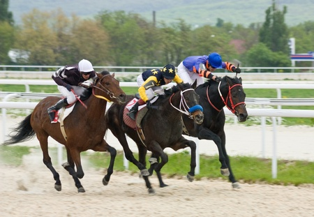 Race for the prize of the  Tagora  in Pyatigorsk,Northern Caucasus, Russia   Standard-Bild