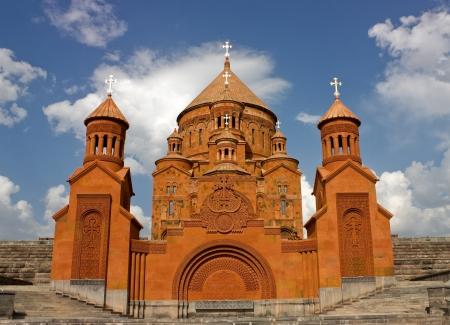 Saint Hovhannes church in Abovyan city,Armenia  photo