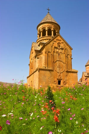 Noravank monastery was founded in 1205  It is located 122 km from Yerevan in a narrow gorge made by the Darichay river, nearby the city of Yeghegnadzor  photo