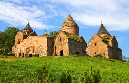 Goshavank Monastery was founded in 1188  It is located about 20 miles east of Dilijan,Armenia  Stock Photo