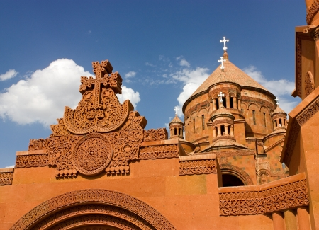 Saint Hovhannes church in Abovyan city,Armenia Fragment