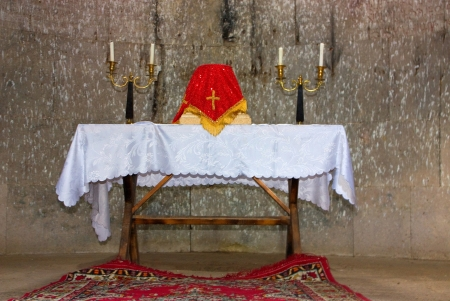apostolic: Interior of armenian apostolic church in Armenia Stock Photo