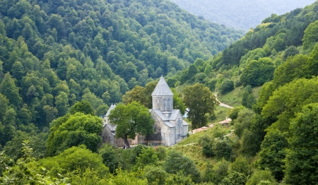 Haghartsin is a 13th century monastery located near the town of Dilijan in the Tavush Province of Armenia. Stock Photo