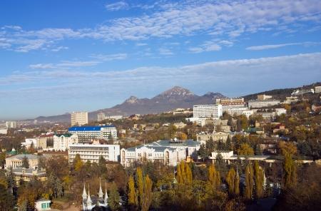 pyatigorsk: View on city Pyatigorsk and mountain Beshtau,Northern Caucasus,Russia